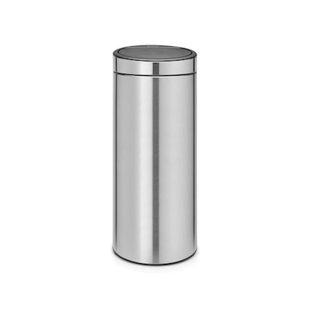 Touch Bin NEW, plastinderspand 30 L Matbørstet Stål