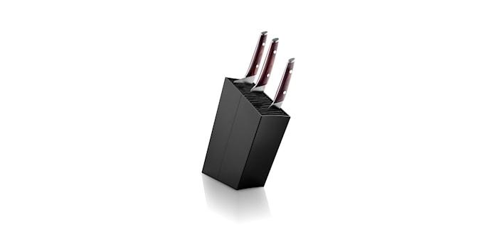 Knife Block Angled Black