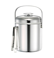 Ice bucket with lid and tongs 1,3L