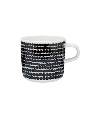 SIIRTOLAPUUTARHA Kaffekopp 20 cl Vit/Svart/Räsymatto