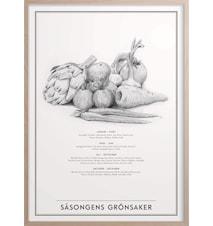 Säsongens Grönsaker Poster 50x70 cm