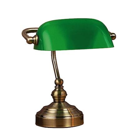 Bankers Bordslampa Grön 25cm