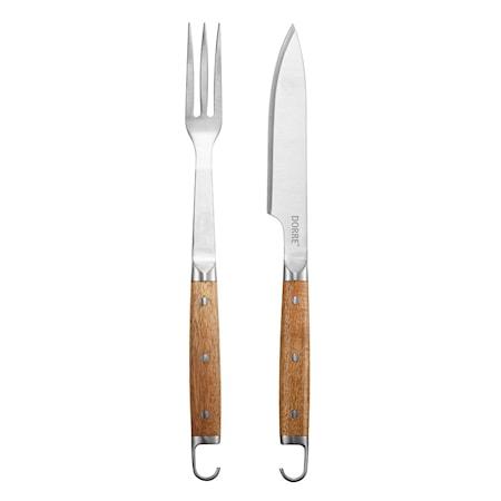 BBQ set 2 st Gaffel 41cm Kniv 42,8 cm