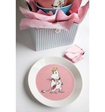 Mumin tallrik 19 cm Snorkfröken rosa