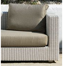 Cube fåtölj - Vit stol/grå dyna