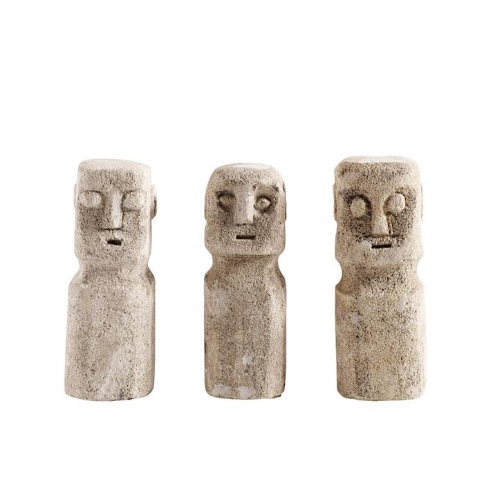 Skulptur Head 3st Sand Stone 15 cm