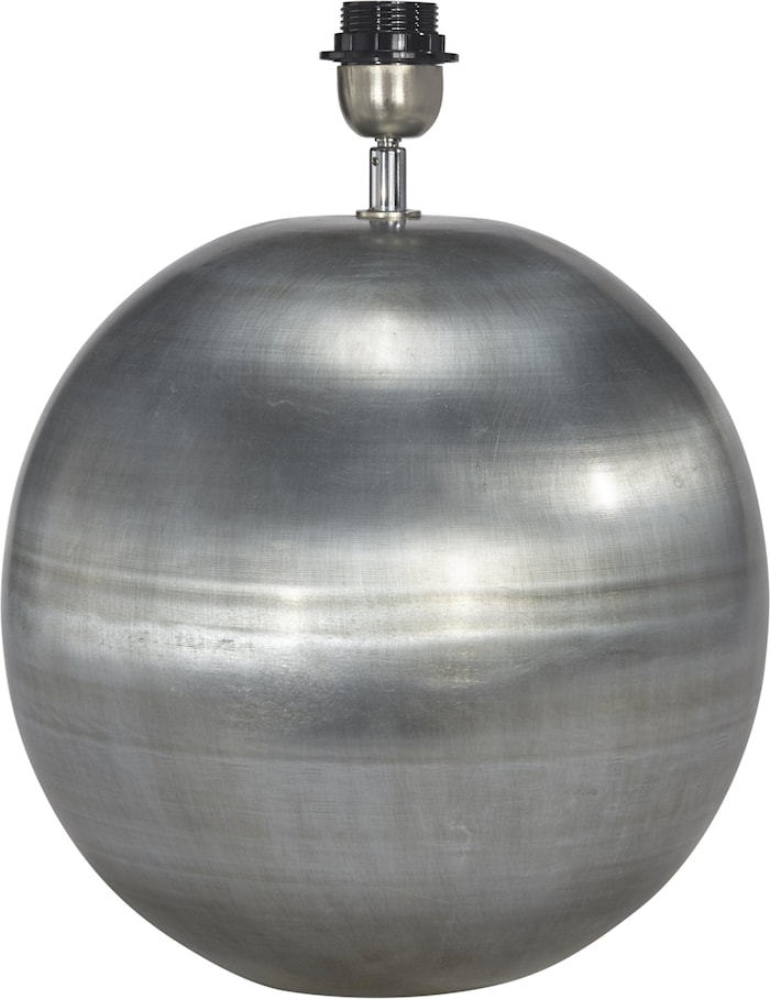 Globe Lampfot Blekt Silver 15cm