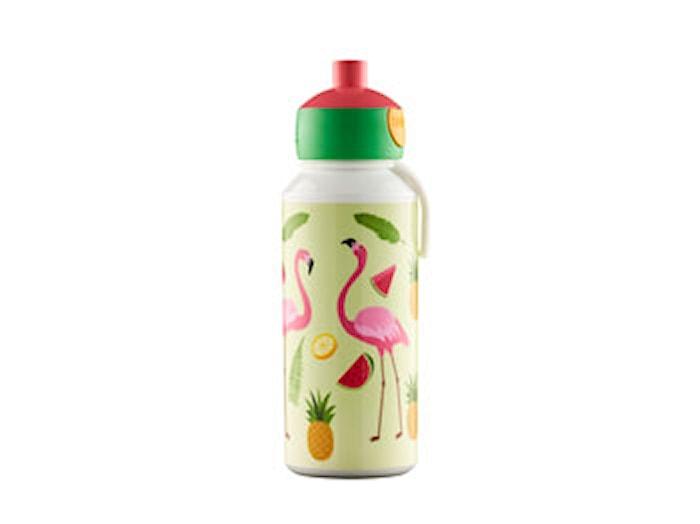 Drickflaska Pop-up Tropical Flamingo 400 ml