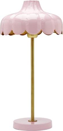 Wells bordlampe Rosa/guld 50cm