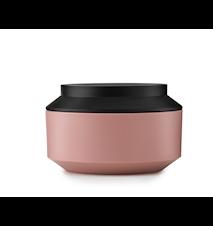 Geo Jar with Lid Pink / Black Ø 15 cm