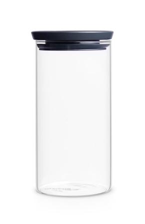 Glasskrukke 1.1 L Glass/Grått lokk