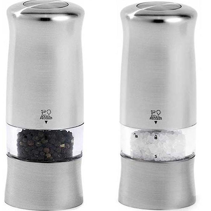 Zeli DUO Elektrisk Salt & Pepparkvarn Kromad 14 cm