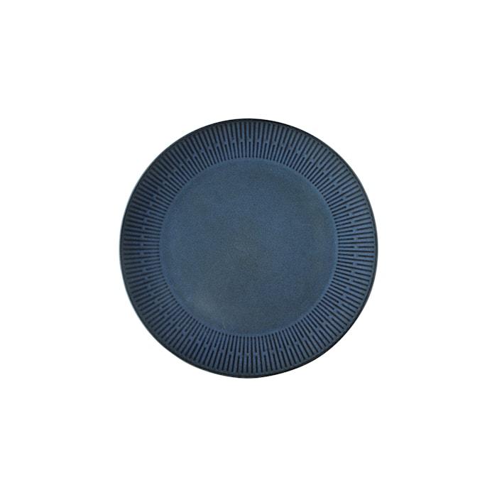 Relief Middagstallerken Blå