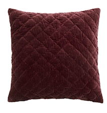 Pudebetræk Quilted 50x50 cm - Rød