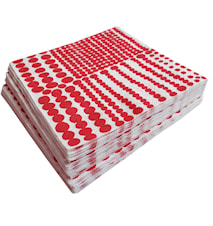 Pricktyg Papirservietter Rød