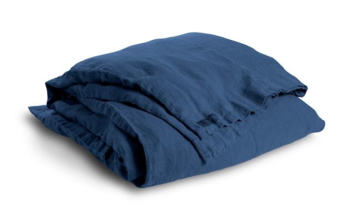 Lovely linen påslakan – Denim blue, 135x200