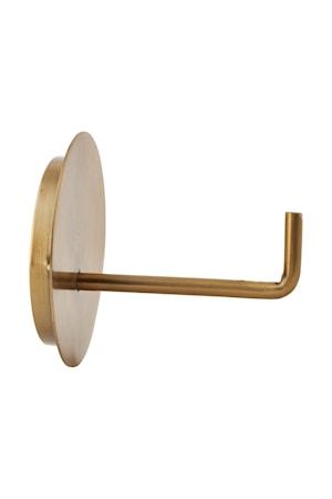Toiletpapirsholder Tekst 12,5 cm - Messing