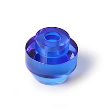 Krystallglass Lysestake Blå