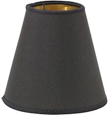 Toppringskjerm E14 Svart/Gull 14 cm