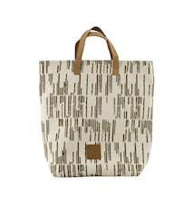 Shopping bag, Row, Sand, 41x38 cm