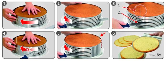 Kitchen Tools Tortenring Rostfreier Stahl 26-28 cm