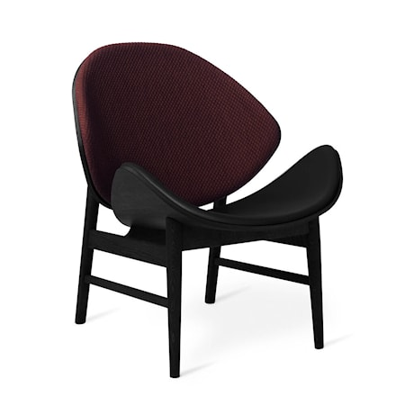 The Orange Lounge Chair Dark bordeaux Svartlackad Ek