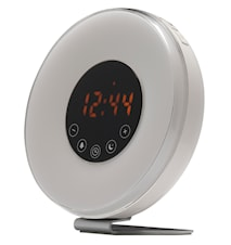 Kelloradio jossa Wake-Up-Light