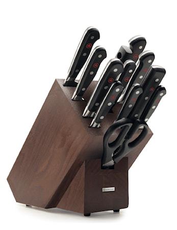 CLASSIC Knivblock Set 12 delar Brun