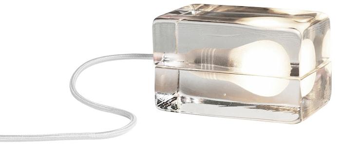 Block Lampa med tekstilledning Hvit