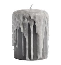 Bloklys Ø 8x10cm - Grå