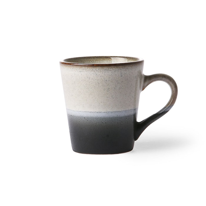 70's Espressokop Sort og Hvid 80 ml