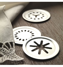Kakpress 20 olika mönster Svart