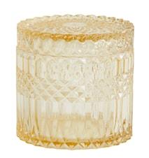 Welly Glasskrukke med lokk Gul L