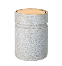 Beholder m/låg Grå Stoneware