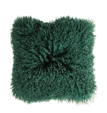 Pude Tibetan Lameskind Grøn 40x40 cm
