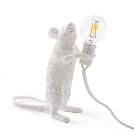 Mouse Lamp Stående Vit