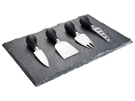 Ostset 4 Knivar Svart
