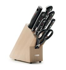 CLASSIC Knivblokk Sett 7 deler