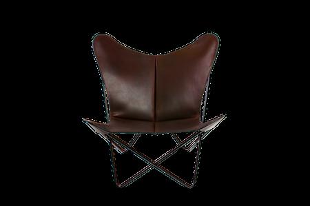 Trifolium Fåtölj Mocca Läder & Svarta Ben