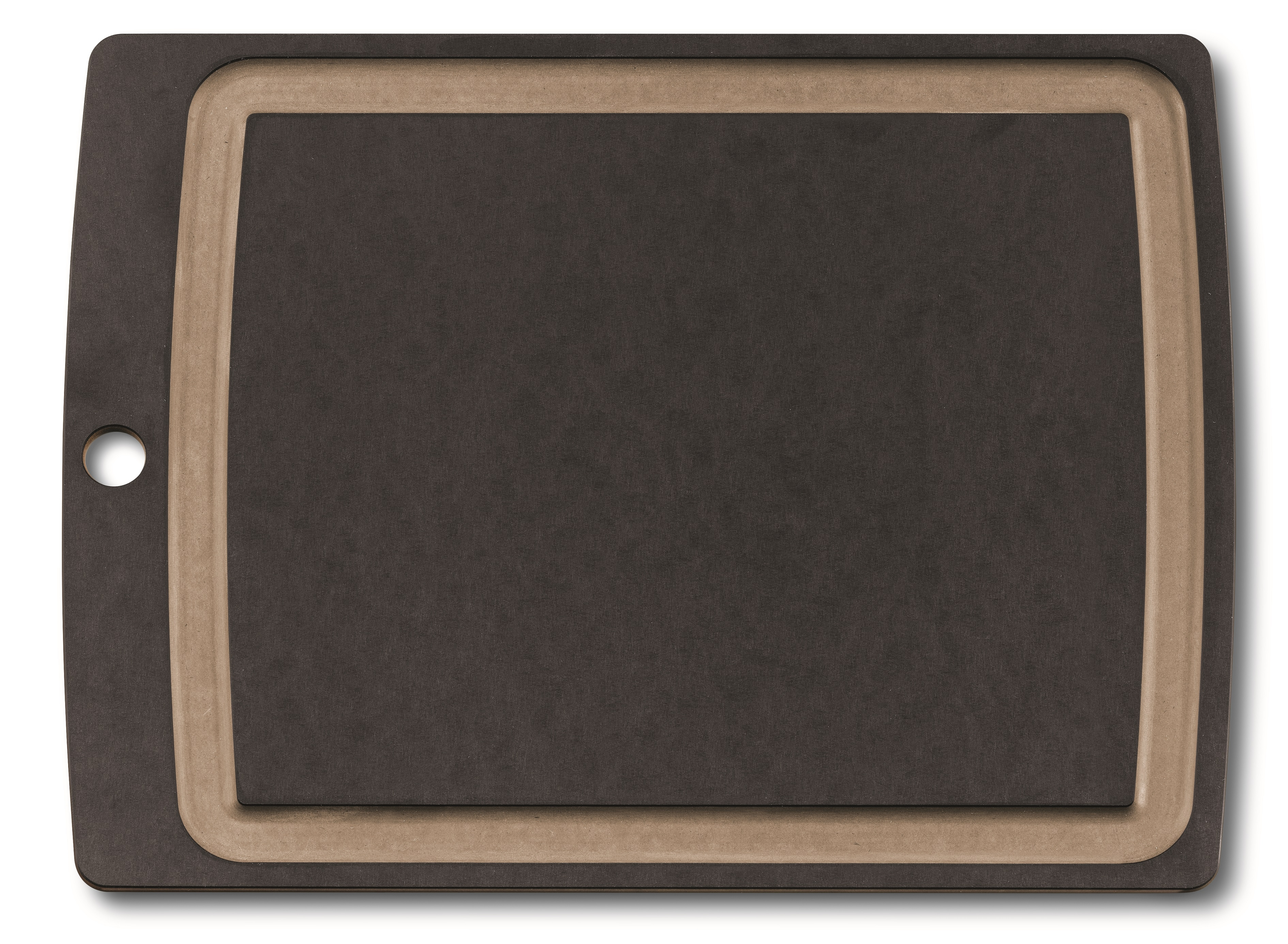 Allrounder Cutting Board L black with juice groove