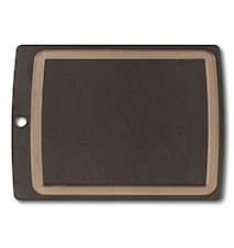 Allrounder Cutting Board L, black with juice groove