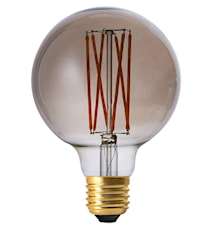 Elect LED Filament Globe Smoke 95mm