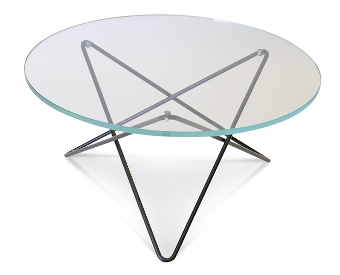 O-table glass soffbord – Clear/black