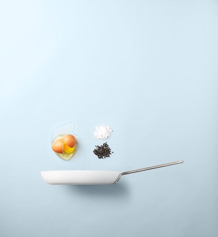 Stegepande med Slip-Let® belægning 28 cm Hvid