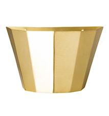 Veggkurv Messing Metall 25x15x12cm