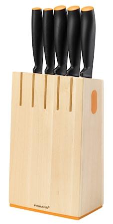 Functional Form Knivblock med 5 knivar Trä
