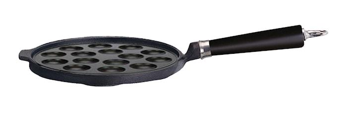 Takoyaki-pannu 15 reikää Ø 25 , kahva mustaa pyökkipuuta