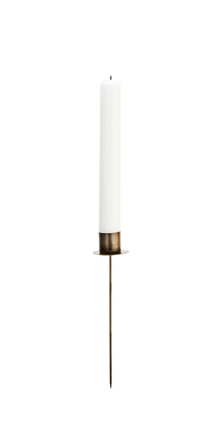 Lysestage 18 cm - Messing