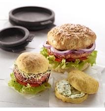 Hamburgerbrød silikonform stor