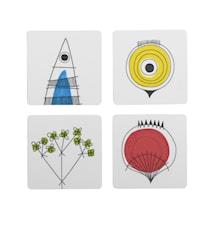 Picknick Glasunderlägg 4-pack